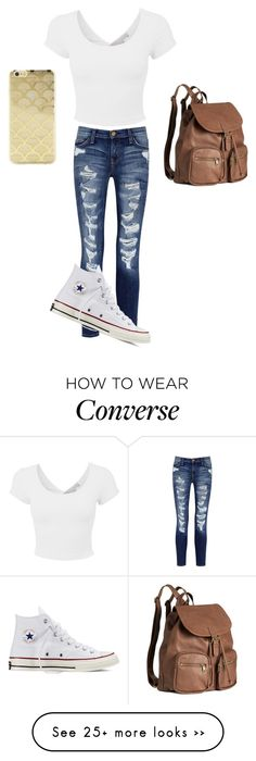 """Untitled #58"" by xoemily246 on Polyvore featuring Current/Elliott, Converse, H&M and Sonix"