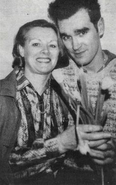 Morrissey with his mom