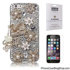 iPhone 6s Case Luxury Extreme Series Armybee(TM) Bling Rhinestone iPhone 6 / iPhone 6s Case Pearl Crystal Diamond Handbag Design 3D Bling Case Cover Skin