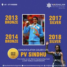Congratulations PV Sindhu ✌️History has been made YOU! 🤩🙌🏻becomes the first Indian to clinch a 🥇 at the