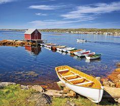Punts on Fogo Island by Newfoundland and Labrador Tourism, via Flickr