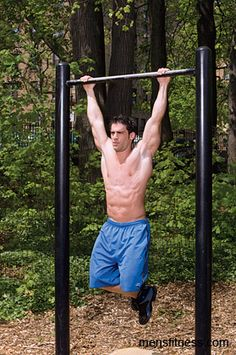 Playground Workout (Workout A) - Not your ordinary chin up...  Make your way to the end of the bar, do 3 chin ups, go back.