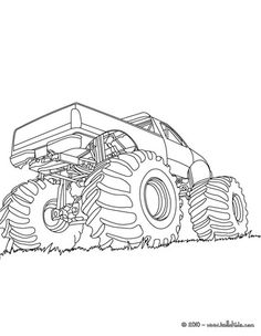 How To Draw Monster Truck Bigfoot Kids The Place For Little