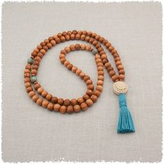 Bayong Mala Beads with Blue Turquoise Magnesite by GoldenLotusMala, $41.00