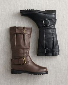 Gentle souls buckled up boots brown boots and black for Eileen fisher motor boots