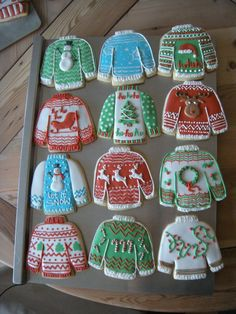 Ugly Christmas sweater cookies are popular! https://www.annclarkcookiecutters.com