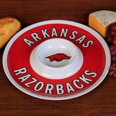 Arkansas Razorbacks 12'' Melamine Chip & Dip Tray