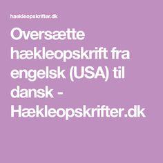 Oversætte hækleopskrift fra engelsk (USA) til dansk - Hækleopskrifter.dk