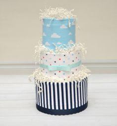 Baby Sprinkle Gift Boy Diaper Cake Baby Shower by babyblossomco