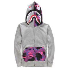 NEW Bape A Bathing Ape Men/'s Casual Coat Zip Sweatshirt Loose Hooded Jacket