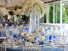 Blue And Silver Wedding Centerpieces Cobalt-blue-white-silver- ...