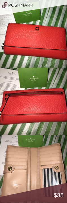11b61c0d966b2 Kate Spade Leather Continental Wallet ( used)
