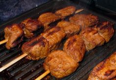 Tapas - Spicy Pork Skewers (pinchos Morunos) from Food.com: Tapas (bite-sized appetizers) is one of Spain's most cherished culinary traditions! This recipe is courtesy of Executive Chef Jose Salgado. Marinating time (minimum 4 hours) is not included