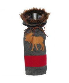 Gray Moose Blanket B
