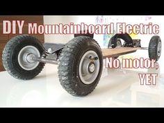 DIY Mountainboar Electric - Pt 1 Basic Board. No motor, Yet - YouTube Motorized Skateboard, Electric Skateboard, Power Wheels, Bike Design, Monster Trucks, Boards, Youtube, Surf, Mountain