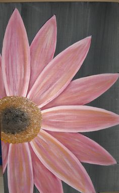 Daisy Painting Cottage Decor Art Mothers Day Gift Rustic Pink Flower Wood