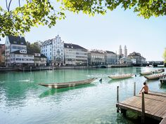 Limmatquai leads through Zurich's old town past sights and trendy shops