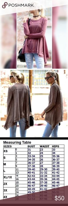 🆕JUST IN🆕 Raw Edge Tunic Top in MAUVE 🆕JUST IN🆕 Raw Edge Tunic Top in MAUVE Color ~ Mauve  Fabric ~ 48% Shrinkage Yarn / 34% Polyester /                 18% Cotton Hand wash cold.  This updated wardrobe essential really rocks with any outfit!! Update your wardrobe today with this amazing top!!🍂🍂🍂 Threadzwear Tops Tunics