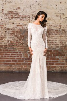 Wedding gown by Justin Alexander Signature.