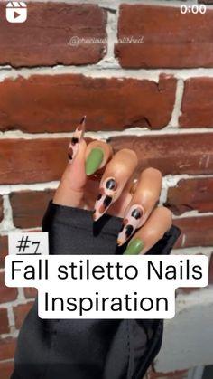 Nude Nails, Black Nails, Stiletto Nails, Coffin Nails, Acrylic Nails, Diy Nail Designs, Stylish Nails, Almond Nails, Halloween Nails