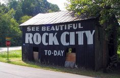 one of the famous See Rock City barns; this one is in Sevier County, Tennessee