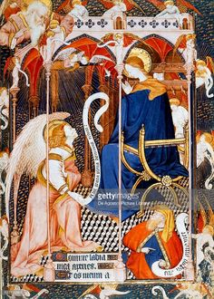 Annunciation: Solemnity of the announcement to Mary of the Incarnation of the Lord, on the date of March 25 The Great Hours of Rohan, book of hours. Illuminator: The Master of Rohan. Date and place of edition; Tiefling Paladin, Byzantine Art, Super Secret, Book Of Hours, Catholic Art, Bnf, Medieval Art, Gods And Goddesses, Christian Art