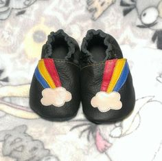 663a042b3 Buy Now Rainbow soft sole leather shoes leather baby shoes... Toddler  Moccasins