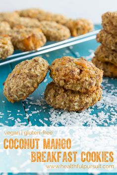Quinoa Coconut Mango Breakfast Cookies  #vegan- Healthful Pursuit