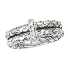 Alisa Designer handmade Sterling Silver Basketweave Ring #vhr1032