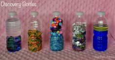 More discovery bottle ideas for babies and toddlers. teachertypes.blogspot.com.au
