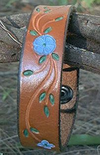 Stamped leather bracelets..and purses...and belts! I forgot about these!  I wish I still had mine.