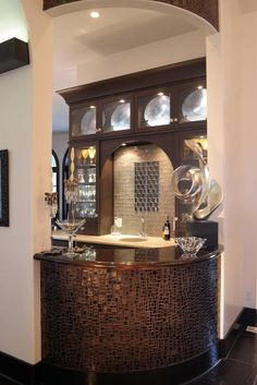 Contemporary Bar - Kitchen Design Pictures | Pictures Of Kitchens | Kitchen Cabinet Ideas | Cabinetry Gallery