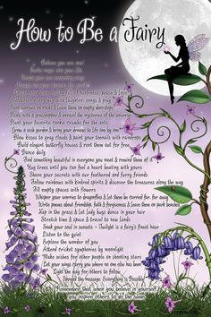 How to Be a Fairy Poster Inspirational Artwork. $12.99, via Etsy.