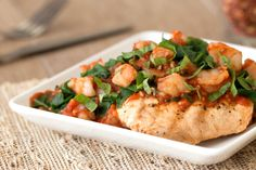 Two servings @ 3 smart points each Hungry Girl's Healthy Mike's Diet Chicken a la HG Recipe