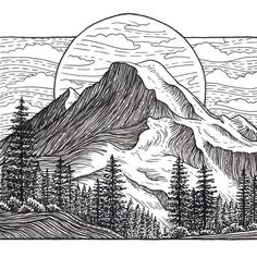 Image result for dribbble mountain illustration