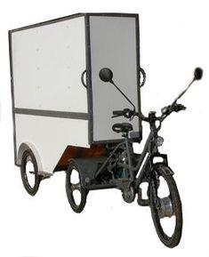 tricycle assistance electrique transport de marchandises livraison en ville ecologique : LV ecolotruck
