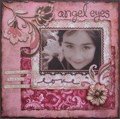 Angel Eyes - Scrapbook.com BasicGrey - Bittersweet Collection