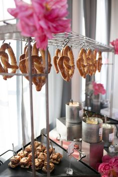 This soft pretzel bar is a GENIUS idea for your wedding day | Tennison Photography | Weddings By JDK