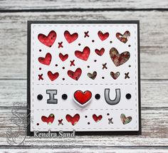 Your Next Stamp:  Silly Love Monsters stamp and die sets, Mini Heart Panel Die  #yournextstamp