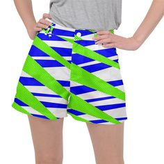 Abstract triangles pattern, dotted stripes, grunge design in light colors Ripstop Shorts Triangles, Grunge, Triangle Pattern, Light Colors, Creative Design, Gym Shorts Womens, Stripes, Abstract, Womens Fashion