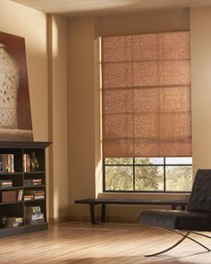 Designer roller shades with standard clutch  Find purchasing options at Creative Windows of Ann Arbor MI  www.creativewindows.com