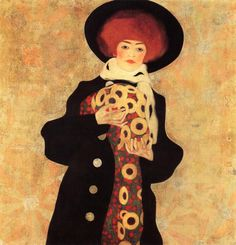 Egon Schiele (Austrian, 1890-1918) - Woman in Black Hat, 1909