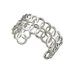 Fiorelli Silver and Crystal Cuff Bracelet Fiorelli. $59.95