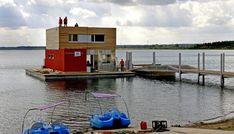 Mandatory Credit: Photo by Roland Hottas/imageBROKER/REX/Shutterstock (5230214a) Swimming houses at the Graebendorfer Lake, Brandenburg, Germany VARIOUS