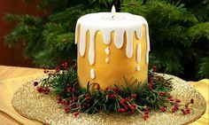 The Chocolate Candle Cake is a fantastic showstopper that will add a delicious treat to your Christmas table