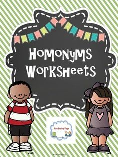 Read More About Homonyms Worksheets All About Me Activities, Learning Activities, Teacher Pay Teachers, Teacher Resources, Homographs, Creative Teaching, Teaching Tips, My Values, Elementary Schools