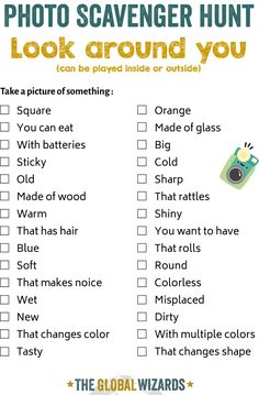 5 photo scavenger hunt ideas when you are stuck at home - Photo treasure hunt for children Picture Scavenger Hunts, Outdoor Scavenger Hunts, Scavenger Hunt For Kids, Camp Scavenger Hunts, Kids Things To Do, Things To Do When Bored, Kids Activities At Home, Home Games For Kids, Indoor Activities