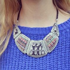 Statement necklace from the zara! by Iris Venema