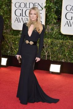 Kate Hudson is a perfect 10 in a sultry, fitted McQueen gown.