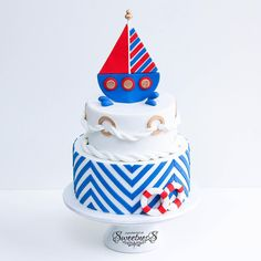 #apocketfullofsweetness #cake #boat #boy #blue